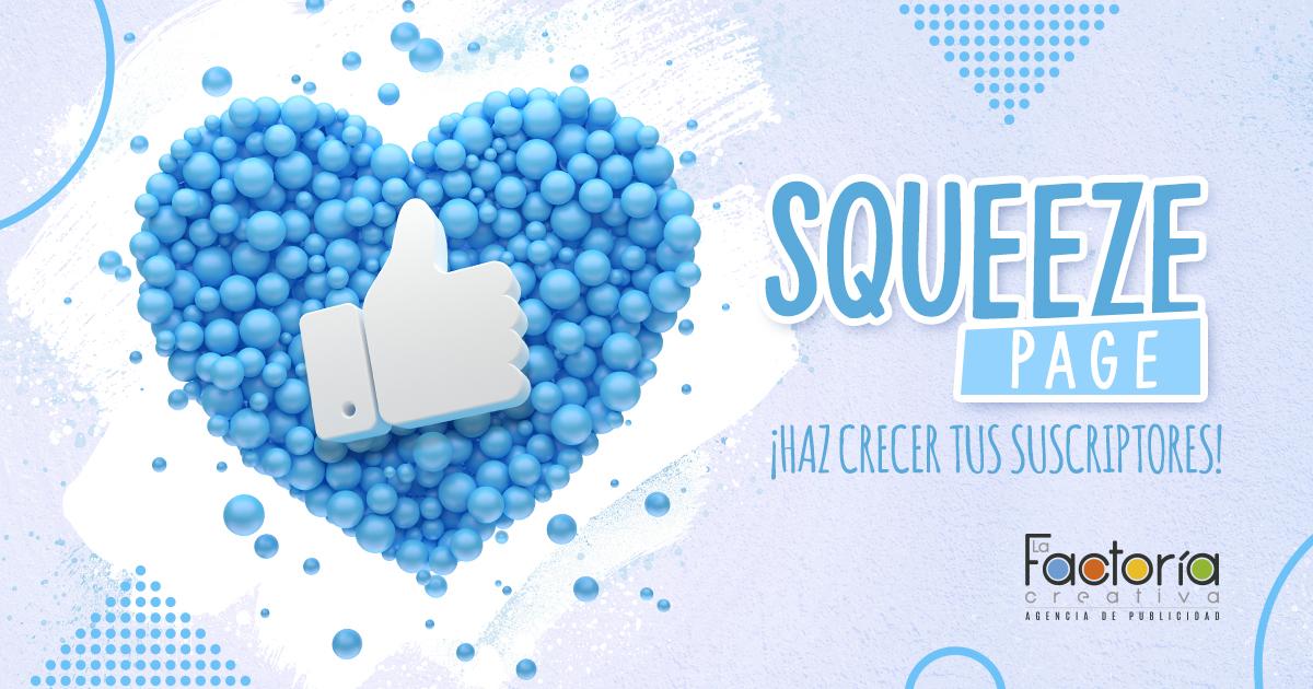 Squeeze page incrementar suscriptores