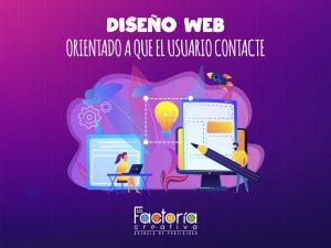 diseño web orientado usuario contacte