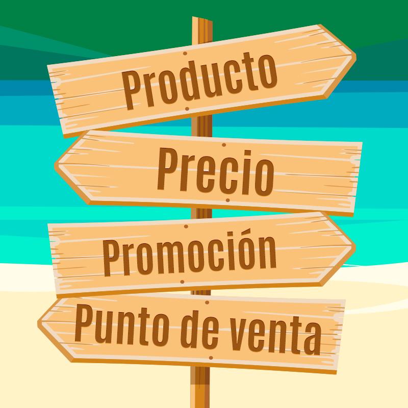 Las 4P del marketing mix: productro, precio, promoción y punto de venta
